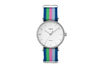 Timex Women's Fairfield Nylon Strap Watch (Blue/Pink/Green)