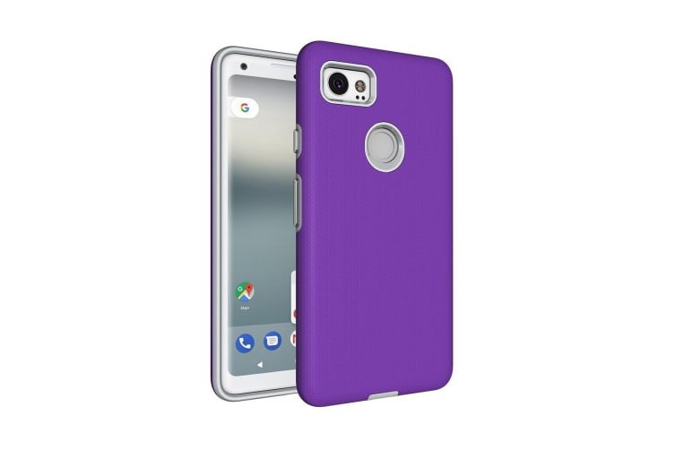 For Google Pixel 2 XL Case Strong Styled Armor High-Quality Durable Cover Purple