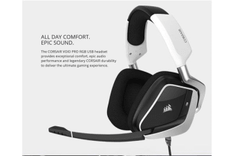Corsair VOID PRO WHITE RGB USB wired Premium Gaming Headset with Dolby® Headphone 7.1 AUDIO