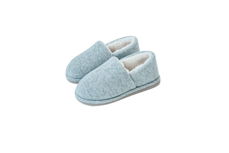 Comfy Fuzzy Knit Cotton Memory Foam House Shoes Slippers - Light Grey Grey 43-44(270Mm Length)