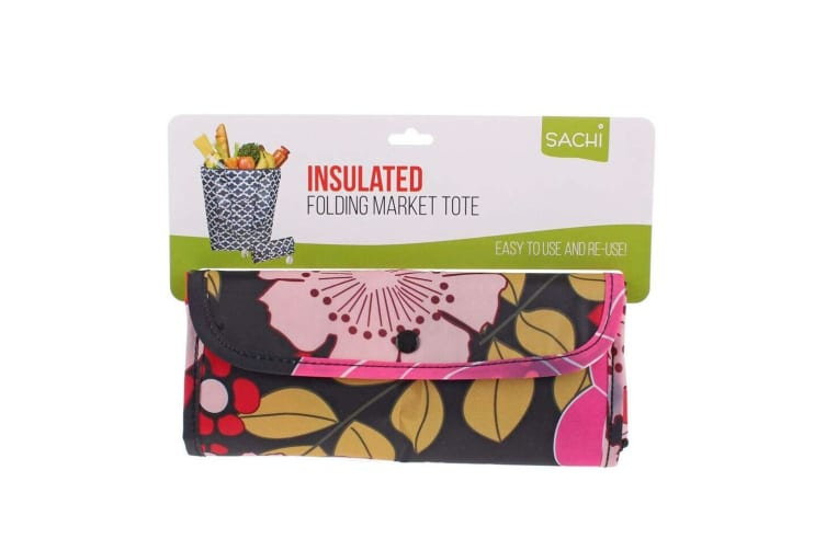 Sachi Insulated Thermal Cooler Shopping Bag Storage Market Tote Floral Blooms