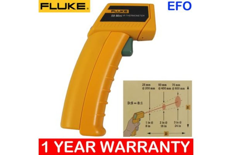 Fluke 59 Mini Infrared Thermometer W/ Laser Sight ?C/?F Switch -18?C~275?C Range