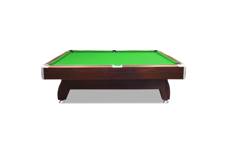 7FT MDF Pool Table Snooker Billiard Table with Accessories Pack, Walnut Frame with Green Felt