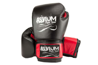 Asylum Boxing Gloves 16OZ MMA Red