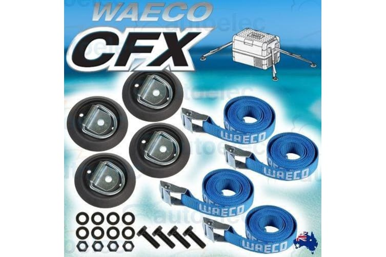 WAECO CFX SERIES FRIDGE FREEZER FIXING KIT TIE DOWN STRAPS ANCHOR POINTS CFX-UFK