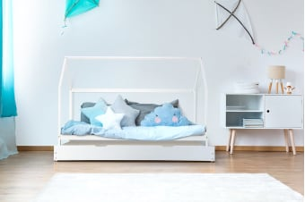 Shangri-La Kids House Trundle Bed (White)