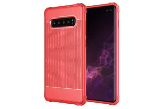 For Samsung Galaxy S10 Case Red Dotted Texture Shockproof TPU Back Cover