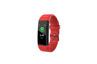 115Plus Intelligent Hand Ring Heart Rate Blood Pressure Waterproof Step Motion Red