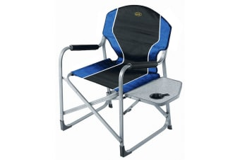 Camp 4 Arezzo Directors Camping Chair (Blue/Black) (One Size)