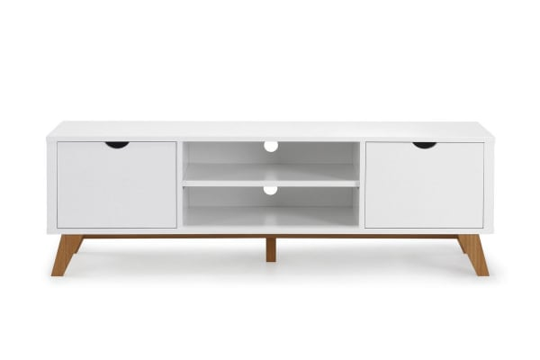Ovela 2 Drawer TV Entertainment Unit - Finse Collection (White)