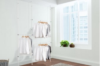 Ovela Premium Adjustable Telescopic Clothes Rack