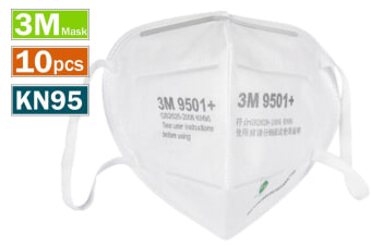 10pcs 3M 9501+ KN95 Particulate Anti Dust Face Mouth Mask