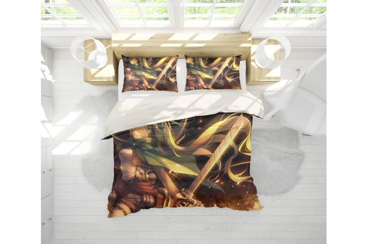 3D Anime Attack Giant Quilt Cover Set Bedding Set Pillowcases 90-Queen