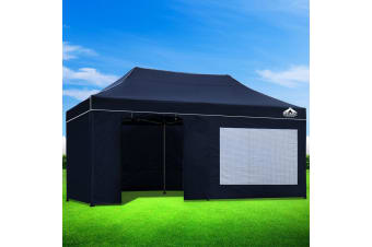 Pop Up Gazebo 3x6m Outdoor Gazebos Wedding Marquee Tent Navy
