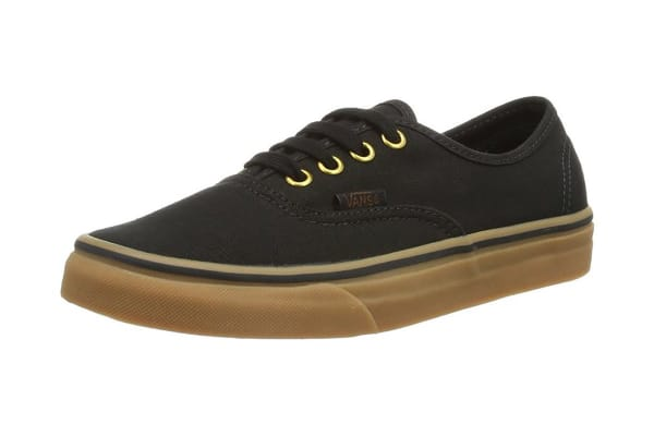 fb4e4dc679 Vans Authentic Unisex Sneakers (Black Rubber Gum