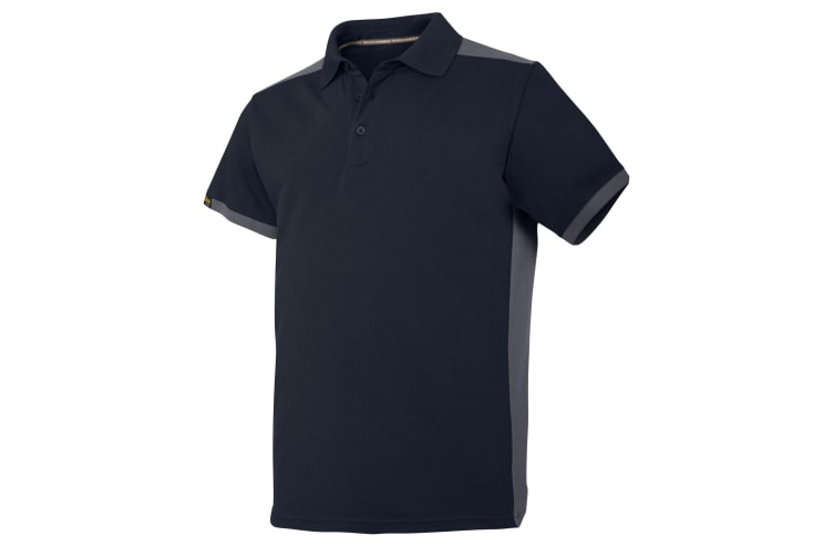 Snickers Mens AllroundWork Short Sleeve Polo Shirt (Navy/Steel Grey) (L)