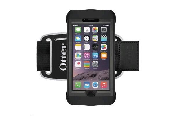 Otterbox Smartphone Armband Carrying Case - Silicone Base - Polyester/Lycra Strap - Black