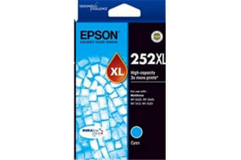 Epson 252XL High Capacity DURABrite Ultra Cyan Ink Cartridge For WF-7610/7620