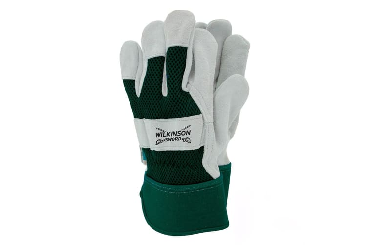 Wilkinson Sword Reinforced Rigger Glove (Green/White) (Large)