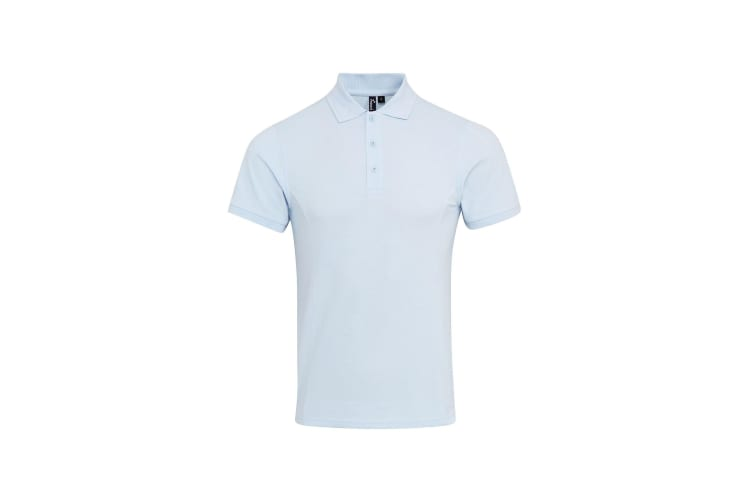 Premier Mens Coolchecker Plus Pique Polo With CoolPlus (Light Blue) (L)