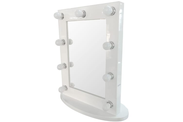 Hollywood Vanity Makeup Mirror W/ Lights Aluminum