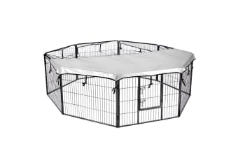 Dog Playpen Cage Kennel With Fabric Cover - 100x80CM/Panel