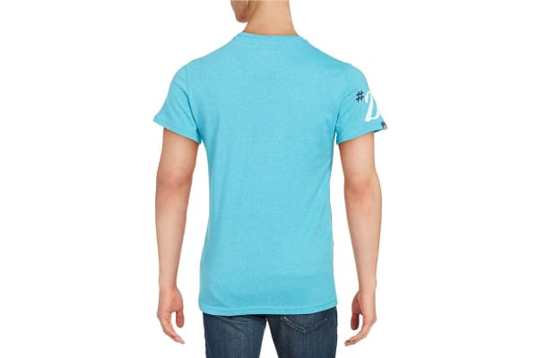 Superdry Men's Ticket Type Duo Classic Tee (Aquamarine, Large)