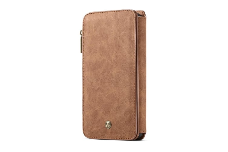 For Samsung Galaxy S10e Case Brown Leather Wallet Detachable Cover 14 Card Slots