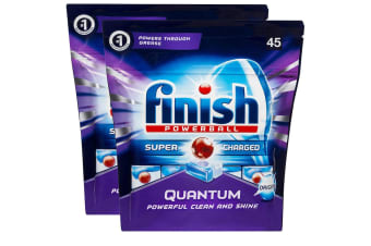 Finish 90 Tabs Quantum Powerball Super Charged Dishwashing/Dishwasher Tablet