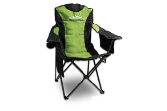 FOLDABLE FOLDING CAMPING CHAIR RECLINER BEACH OUTDOOR PICNIC TRAVEL CAMP GREEN