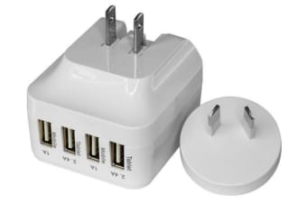 Doss 5V 6.8A 4 Way Usb Charger AU/US Power Plug for Smartphones/Tablets/iPhone