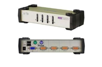 Aten 4 Port KVMSwitch PS2-USB , Cables Inc