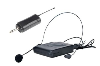Wireless Headset Microphone Head Mic Vhf Mic 50-100M Range Tjp-L108