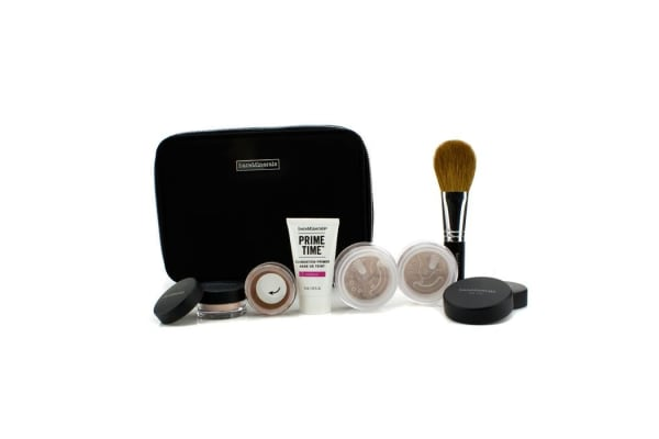 Bare Escentuals BareMinerals Get Started Complexion Kit For Flawless Skin - # Medium (6pcs+1clutch)
