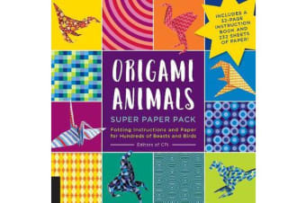Origami Animals Super Paper Pack - Folding Instructions and Paper for Hundreds of Beasts and Birds--Includes a 32-page instruction book and 232 sheets of paper!