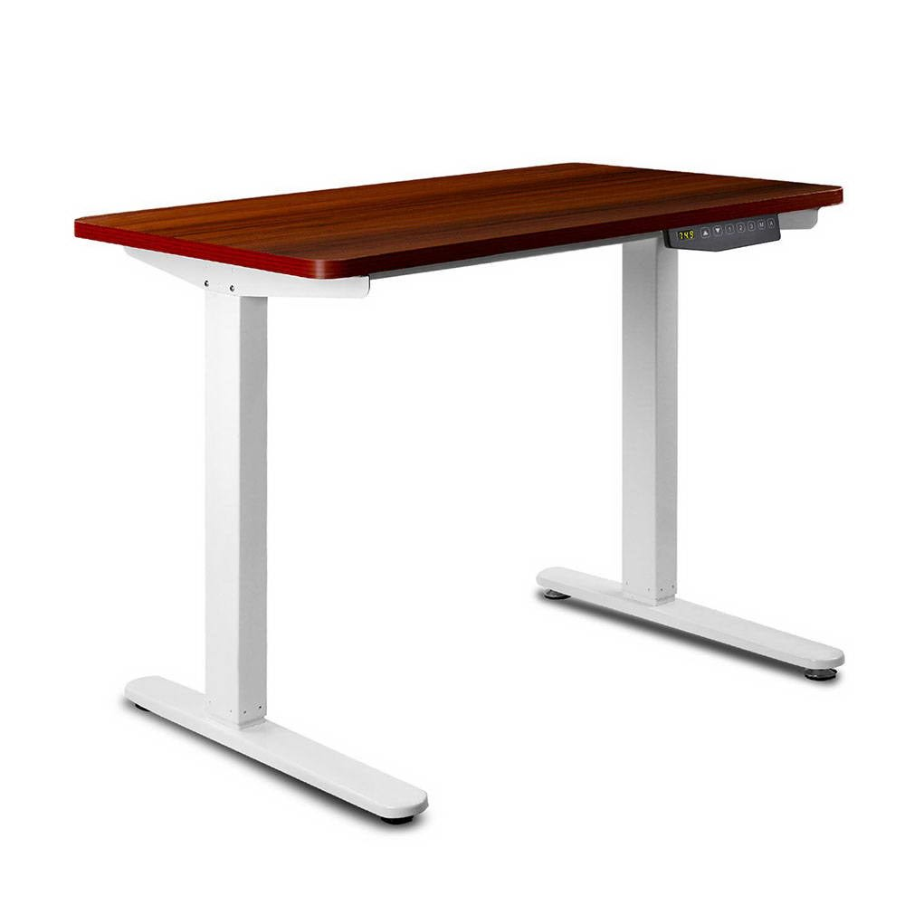 Image of 140CM Motorised Height Adjustable Sit Stand Desk (Walnut)