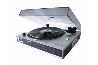 Lenoxx 3-Speed Retro Turntable with Radio and USB/SD (TT650)