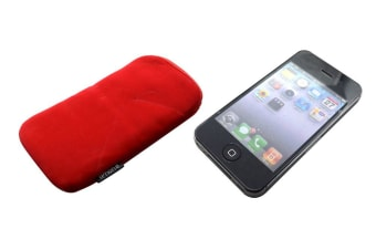 For iPhone 4S 4 Soft  Modern High-Quality Shielding Smartphone Pouch Red