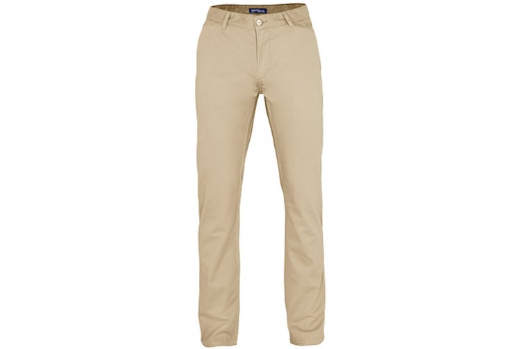 Asquith & Fox Mens Classic Casual Chinos/Trousers (Natural) (MR)