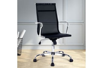 Artiss Executive Office Chair Computer Seat Mesh Eames Replica Chairs Black