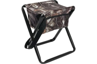 Allen Folding Stool With Carrying Strap & Storage Pouch Camouflage