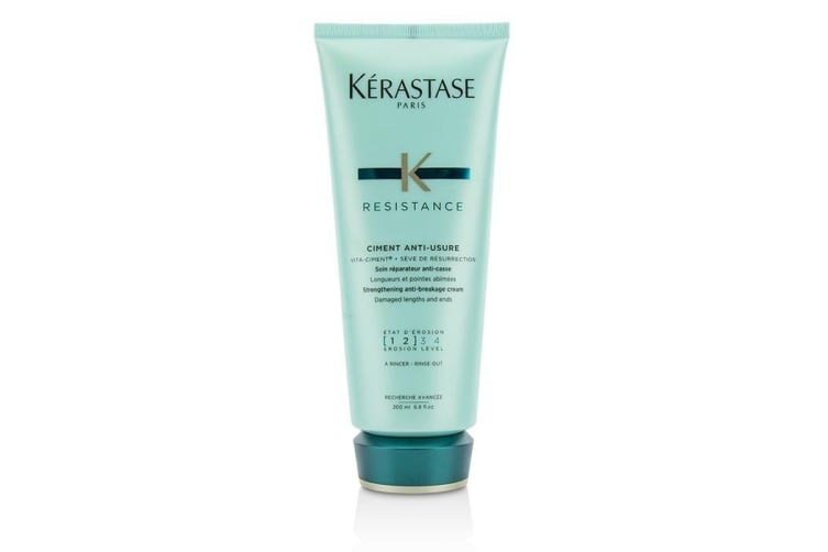 Kerastase Resistance Ciment Anti-Usure Strengthening Anti-Breakage Cream - Rinse Out (For Damaged Lengths & Ends) 200ml