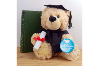 Graduation Teddy Bear with Badge - Buddy