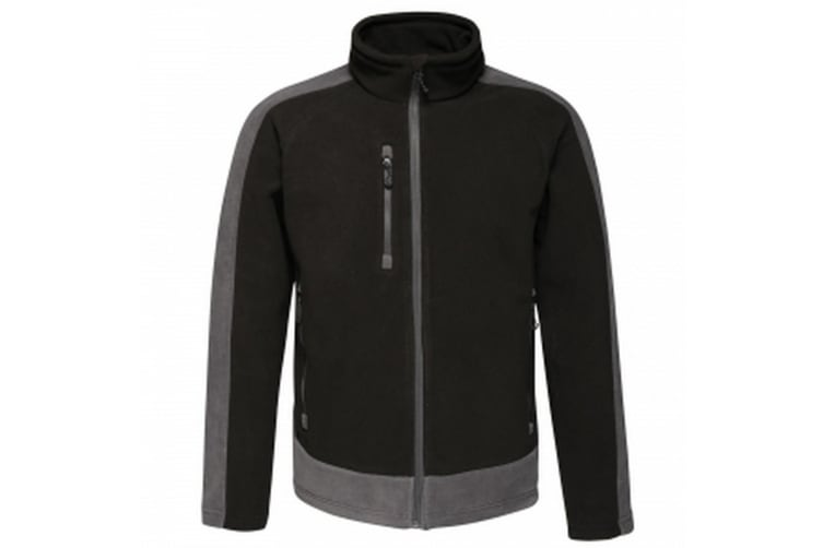 Regatta Mens Contrast Fleece Jacket (Black/Seal Grey) (XXXL)