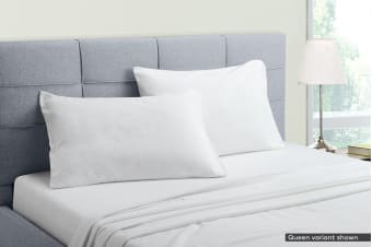 Ovela Flannelette Bed Sheet Set (White)