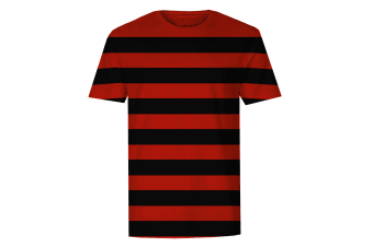 The T-Shirt Factory Mens Red And Black Striped T-Shirt (Black) (XL)