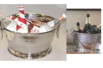 Stainless Steel Bowl Bucket Champagne Wine Cooler Bucket Container Ice Handles