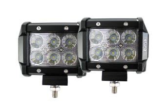 Elinz 2x 18W 4 inch CREE LED Work Light Bar Driving Flood Lamp 4WD Offroad Truck UTE