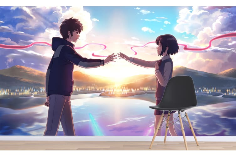 3D Your Name 072 Anime Wall Murals Woven paper (need glue), XXXXL 520cm x 290cm (WxH)(205''x114'')