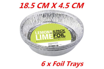 6 x Extra Deep Round Foil Pie Pan Disposable Baking Aluminum Foil Trays Pan Dish